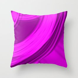 Joyful semicircular cuts of pink fabric with intersections of dark ribbons.  Throw Pillow
