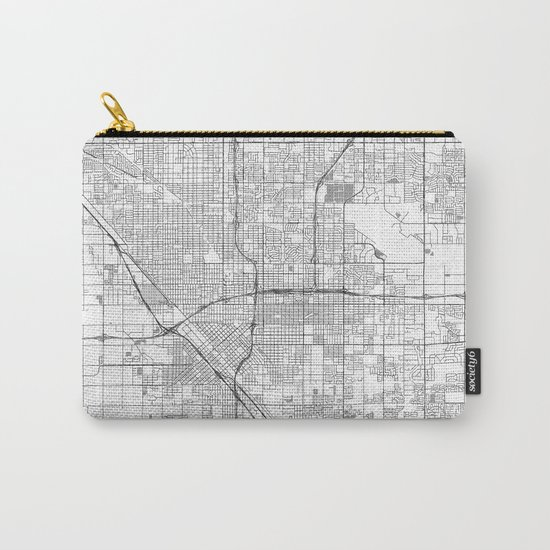 Fresno Map Line Carry-All Pouch