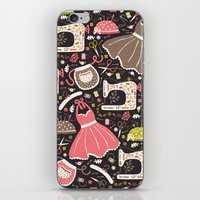 sewing iPhone & iPod Skins featuring Vintage Sewing by Poppy & Red