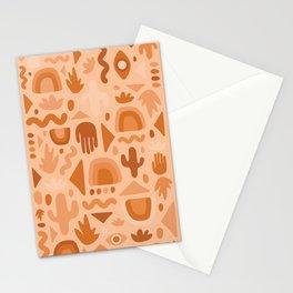 Orange Cutout Print Stationery Cards