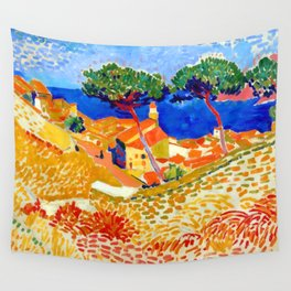 Andre Derain View of Collioure Wall Tapestry