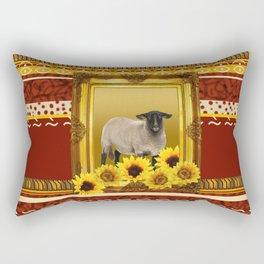 Frame Design yellow Sheep Rectangular Pillow