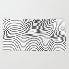 Organic Abstract 02 WHITE Beach Towel