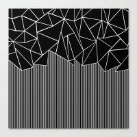 Ab Lines Black Canvas Print