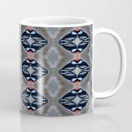 Patternized Male Downy Woodpecker  Coffee Mug