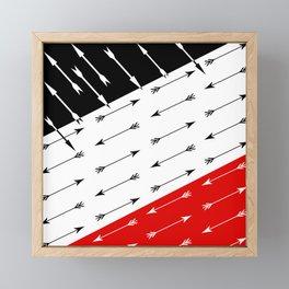 Red black , white pattern Boom 2 . Framed Mini Art Print