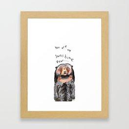 You Are My Sunshine Bear Framed Art Print