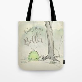 The frog under the rain 2 Tote Bag