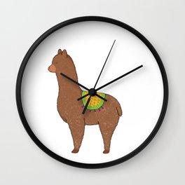 A for Alpaca Wall Clock