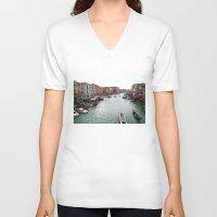 venice V-neck T-shirts featuring venice. by zenitt