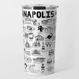Indianapolis Indiana Map Travel Mug