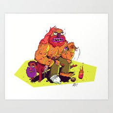 Homeless Body Builder Art Print