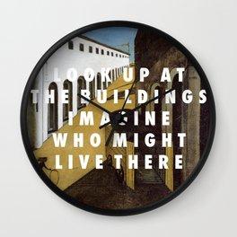 White Mystery Wall Clock