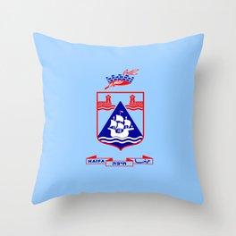 Flag of Haifa Throw Pillow