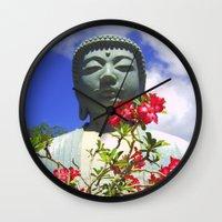 buddah Wall Clocks featuring Buddah Serenity by Magmata
