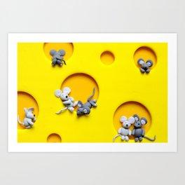 Cheezy Mouse Art Print