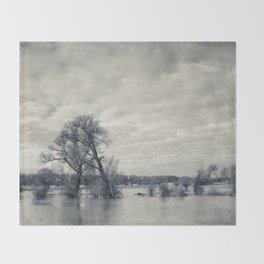 lean on me - flooded meadows Throw Blanket