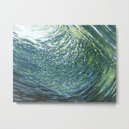 Underwater Movement Metal Print