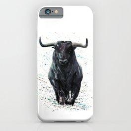 Buffalo watercolor iPhone Case