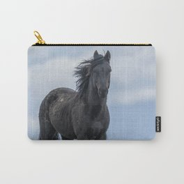 Black Stallion from the South Steens Herd Carry-All Pouch