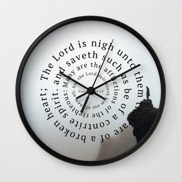 Psalms 34 Wall Clock