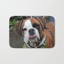 Boxer dog friend Bath Mat