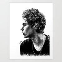 luke hemmings Art Prints featuring Luke  by Luna Perri
