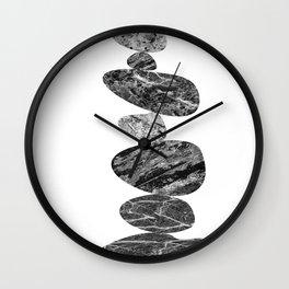 Stone Cairn Wall Clock