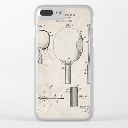 Table Tennis Patent - Tennis Paddle Art - Antique Clear iPhone Case