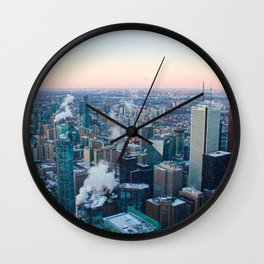 Toronto Sunset Wall Clock