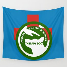 Animal Assisted Activities  - THERAPY DOG logo 2 Wall Tapestry