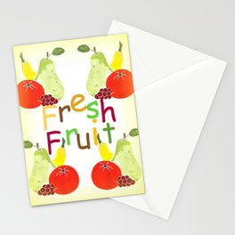 Fresh Fruit Yellow Stationery Cards