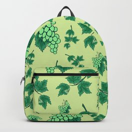 Seamless background from bunches of grapes Backpack