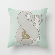 Catpersand Throw Pillow