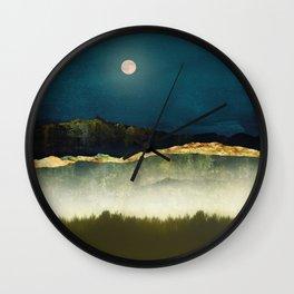 Midnight Moonlight Wall Clock