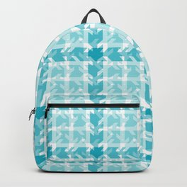 Turquoise Teal Blue Stamped Patchwork Backpack