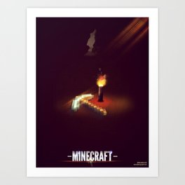 The Lone Pickaxe Art Print