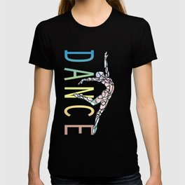 Dance Text Black T-shirt