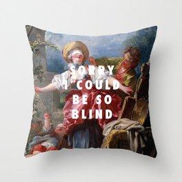 Jean-Honoré Fragonard, Blind-Man's Buff (1750 - 1752) / Halsey, Sorry (2017) Throw Pillow