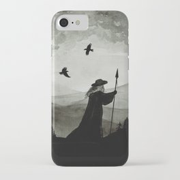 Odin, Huginn and Muninn. iPhone Case