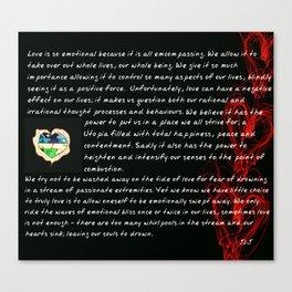Love Whirlpools Canvas Print