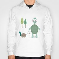 tortoise Hoodies featuring Tortoise by Esther Ilustra