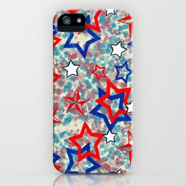 Stars and Splats iPhone Case