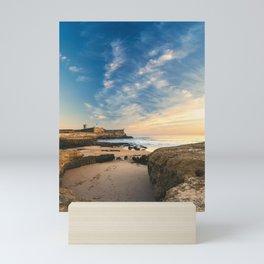 Beach of Carcavelos & Saint Julian Fortress, Portugal Mini Art Print