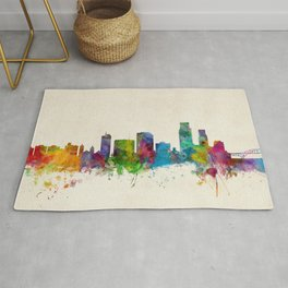 Corpus Christie Texas Skyline Rug