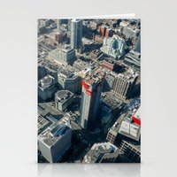 buildings Stationery Cards featuring Buildings by Nick De Clercq