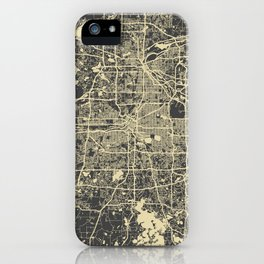 Minneapolis Map yellow iPhone Case
