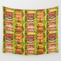 tribal Wall Tapestries featuring Tribal  by Slumbermonkey Designs