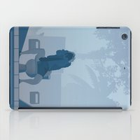 lawyer iPad Cases featuring Jurassic Park poster - feat. Donald Gennaro by Peter Cassidy