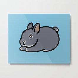 Netherland Dwarf Bunny Loaf Metal Print
